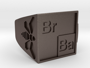 BrBa Bottle Opener Ring size 11 in Polished Bronzed Silver Steel