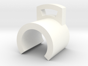 Whip Clip, part 2 in White Processed Versatile Plastic