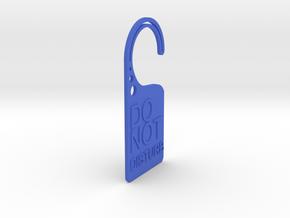 Doorplate in Blue Processed Versatile Plastic