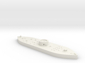 1:1200 Ironclad USS Monitor in White Natural Versatile Plastic