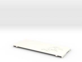 Nintendo New 3ds Coverplate Pikachu in White Processed Versatile Plastic