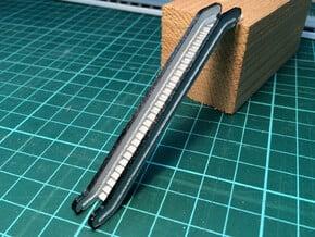 N Scale Escalator 38.6mm in White Natural Versatile Plastic