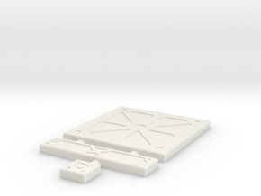 SciFi Tile 03 - Reinforced Plate in White Natural Versatile Plastic