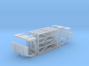 901-100 ZE AB6 Hekwerk treeplanken in Smooth Fine Detail Plastic