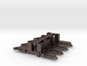 Blenden für Halling-Triebdrehgestelle (4 Stück) in Polished Bronzed Silver Steel