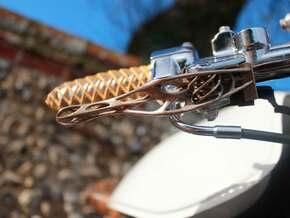 Trellis Clutch Lever Hydraulic in Polished Bronzed Silver Steel