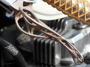 Trellis Clutch Lever in Polished Bronzed Silver Steel