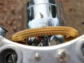 Halo Radiator in Polished Bronzed Silver Steel