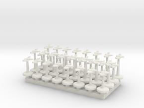 BFG Dagger Fighters (x32) in White Natural Versatile Plastic