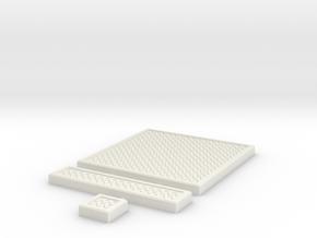SciFi Tile 05 - Diamond Plate in White Natural Versatile Plastic