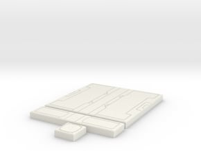 SciFi Tile 20 - Starship Corridor in White Natural Versatile Plastic