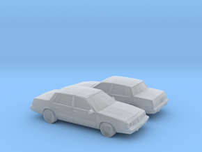 1/160 2X 1981-90 Pontiac 6000 in Smooth Fine Detail Plastic