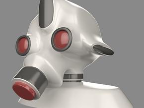 Robot head in Full Color Sandstone
