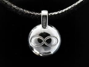 Infinity in Rhodium Plated Brass