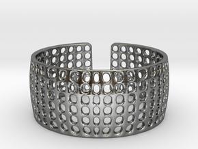 LOKA cuff  in Polished Silver