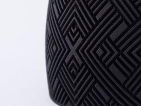 Line Cuff in Black Natural Versatile Plastic