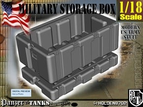 1-18 Military Storage Box in White Processed Versatile Plastic