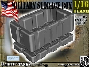 1-16 Military Storage Box in White Processed Versatile Plastic