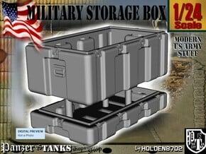 1-24 Military Storage Box in White Processed Versatile Plastic