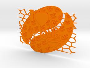 Cafea (1) in Orange Processed Versatile Plastic