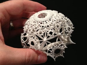 Half of a {4,4,4} H³ Honeycomb in White Natural Versatile Plastic