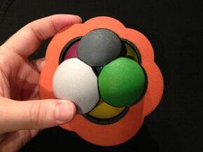 4D Regular Skew Polyehedron {6,4|3} in Full Color Sandstone