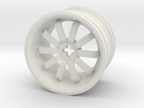 Wheel Design VII in White Natural Versatile Plastic