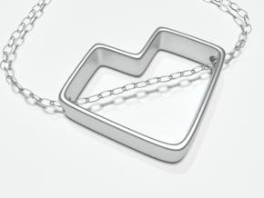 Future Love Pendant in Polished Silver