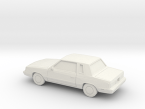 1/87 1985-89 Plymouth Reliant Coupe in White Natural Versatile Plastic