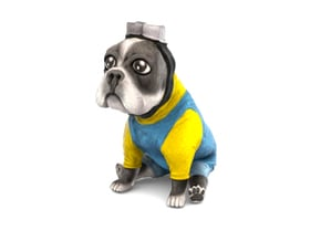 Minion Frenchie (Grey) in Full Color Sandstone