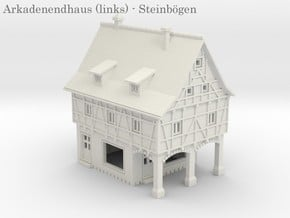 Altstadt Arkadenhaus 3 - 1:220 (Z scale) in White Natural Versatile Plastic