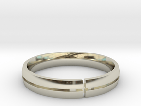 Greg Wedding Ring Final Gold Edition in 14k White Gold