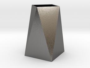 Low Poly Vase in Polished Nickel Steel