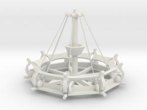 Mittelalter Schwungradkarussell - 1:220 (Z scale) in White Natural Versatile Plastic