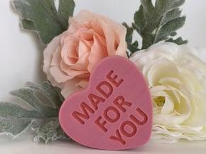 Conversation Heart 3D Valentine in Full Color Sandstone