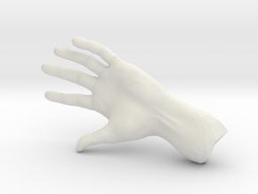 The Hidden Hand (Miniature) in White Natural Versatile Plastic
