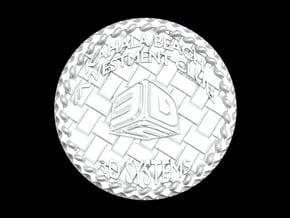 KBIC Souvenir Coin in White Natural Versatile Plastic