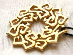 Nimyade Star Pendant in Polished Gold Steel