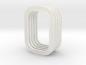 Frame Short 5 Up in White Processed Versatile Plastic
