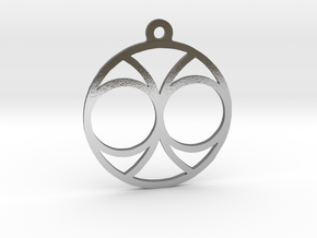 Two. - Tribute to the Philosophy of Number in Polished Silver