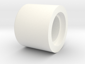 Bell Spacer to make correct spacing beween Main be in White Processed Versatile Plastic