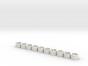 Flachfelge 10x6x2.2 in White Natural Versatile Plastic