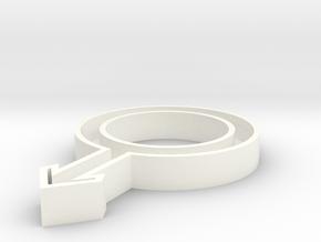 Symbol Man 4,6 x 3 x 0,5 inches in White Processed Versatile Plastic