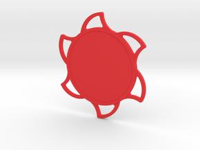 Custom Mandala Pendant Sun in Red Processed Versatile Plastic