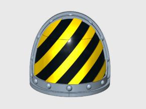 10x Hazard Lines - G:2a Shoulder Pad in Smooth Fine Detail Plastic