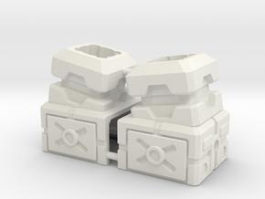 Combiner Port Extenders With Tilt in White Natural Versatile Plastic