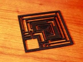 Wright Modern Coaster: Ennis in Black Natural Versatile Plastic