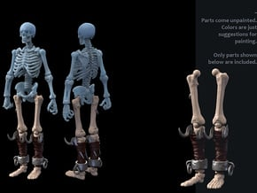 SL01-Legs-05 Slave in White Processed Versatile Plastic