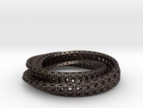 Colosseum Bracelet in Polished Bronzed Silver Steel