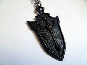 Crusader Shield in Matte Black Steel